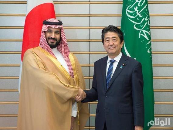 رئيس وزراء اليابان يستقبل ولي ولي العهد ويشهدان تبادل «7» مذكرات تفاهم بين البلدين