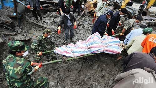 «32» مفقوداً جراء انهيارات طينية شرق الصين