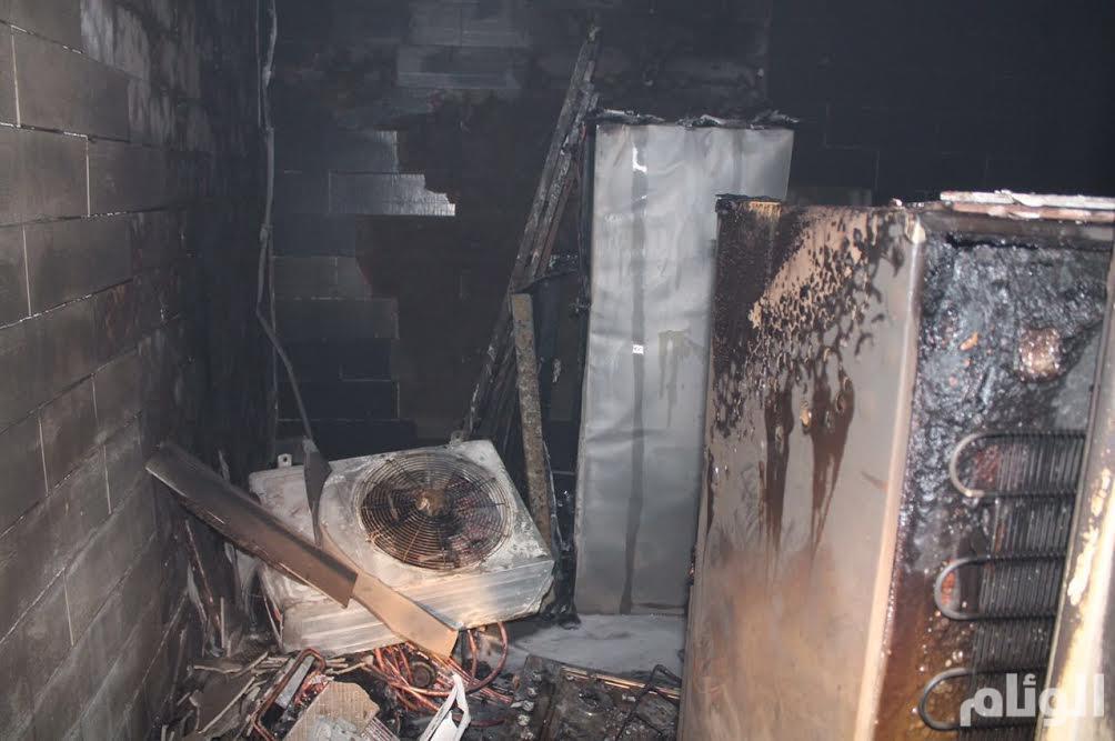 بالصور.. الدفاع المدني يسيطر على حريق شقة في الطائف