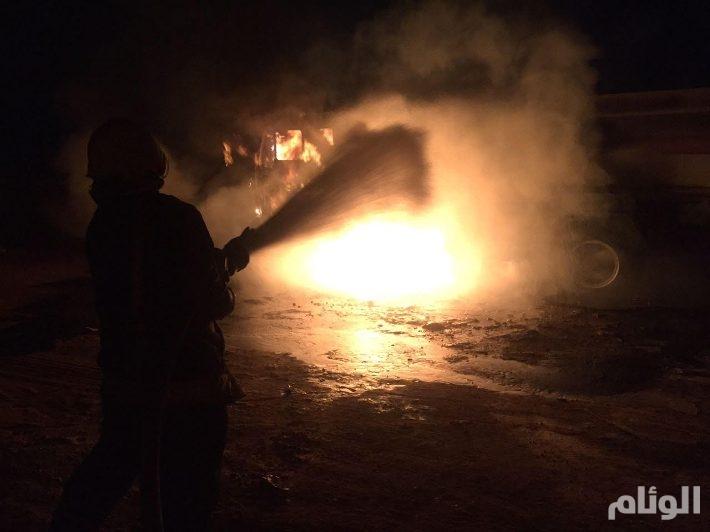 وفاة مقيم في حريق غرفة محطة وقود بالمدينة المنورة