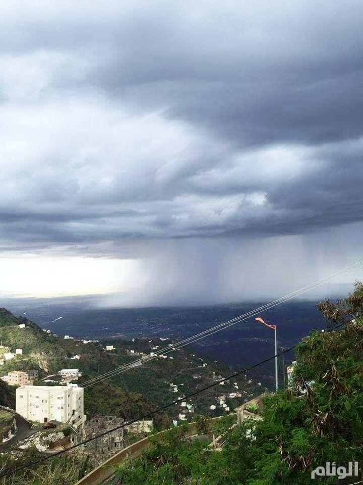 حالة الطقس: إستمرار هطول الأمطار الرعدية بمناطق المملكة