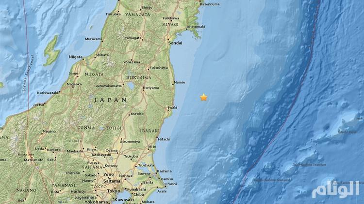زلزال بقوة ٧.٣ يضرب اليابان وأنباء عن تسونامي