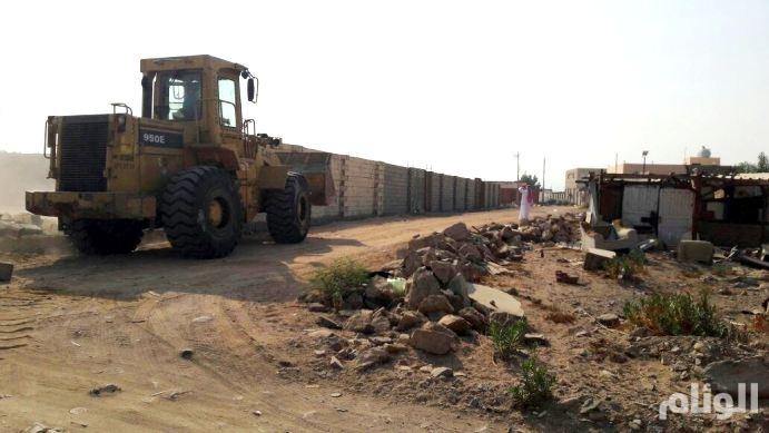 الطائف: إزالة إحداثات غير نظامية على الأراضي الحكومية ...