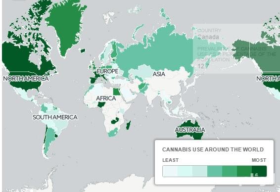 خريطة للدول الأكثر تدخيناً للحشيش في العالم.. من بينها المغرب ومصر والإمارات