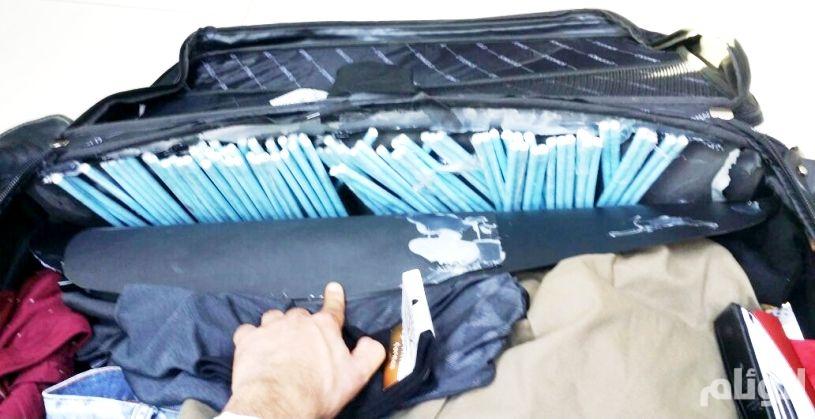 بالصور.. جمرك مطار الأمير نايف يُحبط محاولة تهريب «21» ألف حبة كبتاجون
