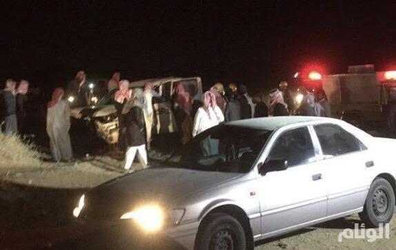 وفاة ثلاثة وإصابة آخر بحادث تصادم مروري بجنوب عفيف