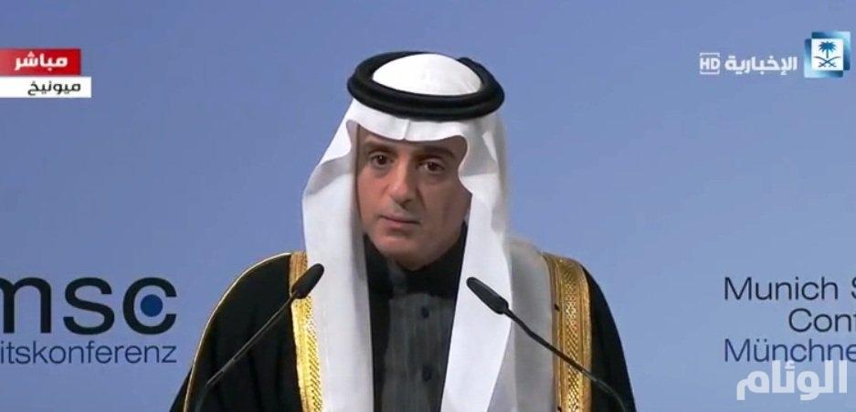 الجبير: إيران تهرب الصواريخ البالستية للحوثيين ليقصفوا بها الأراضي السعودية
