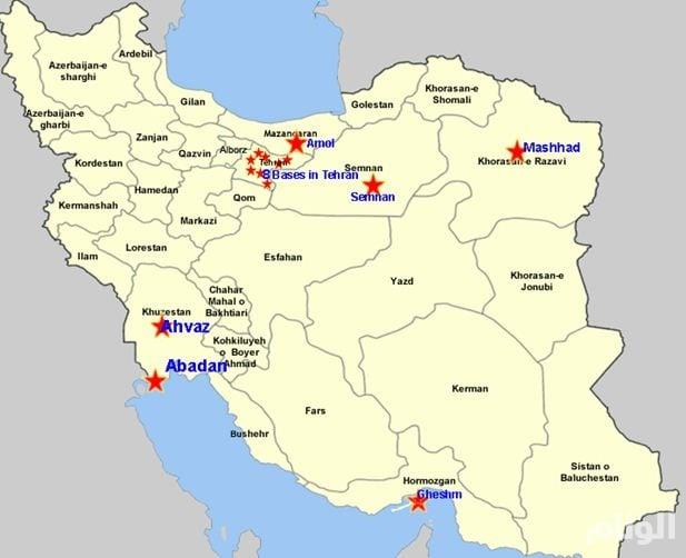بالصور.. المعارضة الإيرانية تكشف 14 مركزًا لتدريب الحرس الثوري للميليشيات الإرهابية