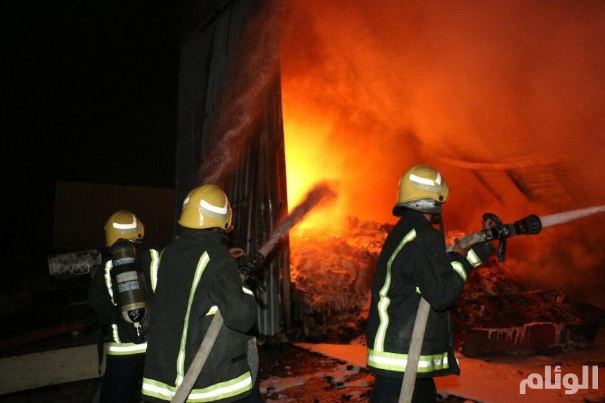 إخلاء الطالبات بعد حريق في «كيبل» خارجي لمدرسة في عفيف