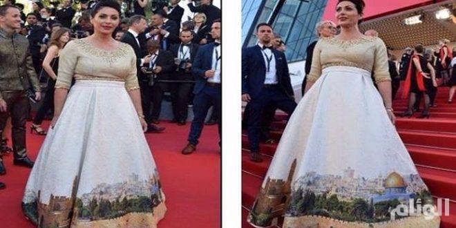 وزيرة الثقافة الإسرائيلية تثير استنكارًا واسعًا بفستان الأقصى