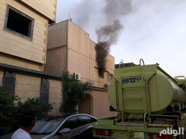 إصابة رجل وإمرأه وطفلين في حريق منزل بالقطيف