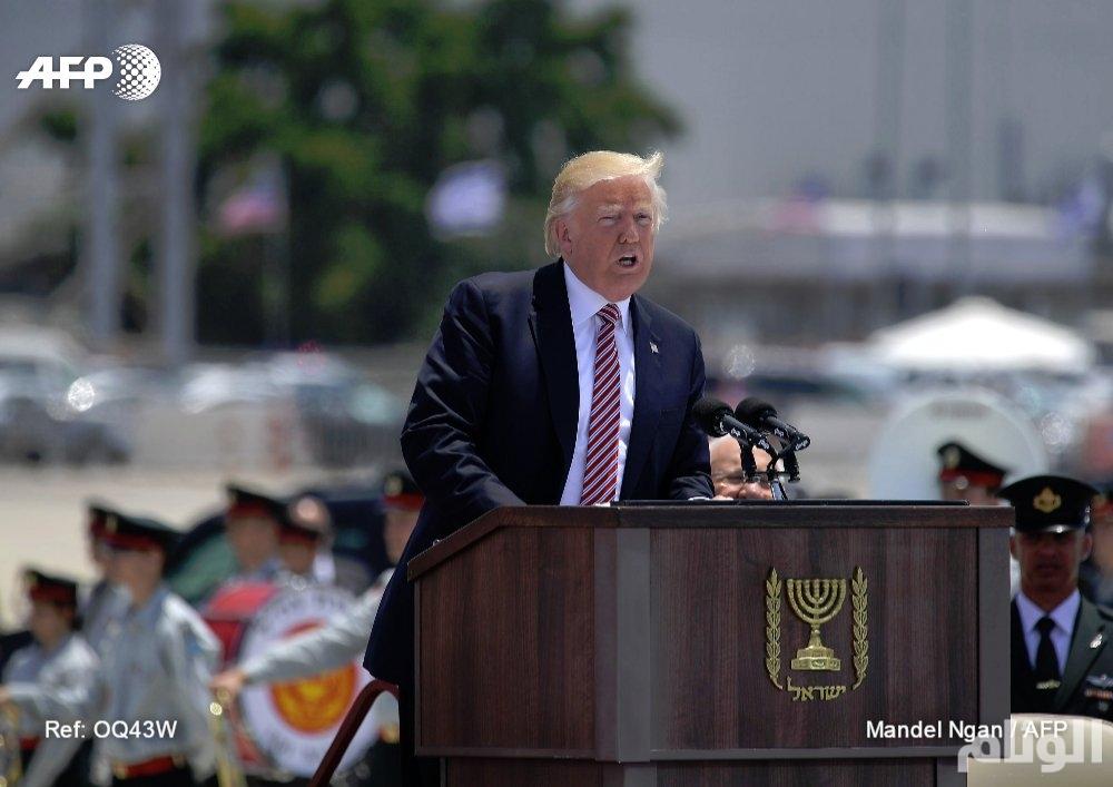 ترامب يتحدث في تل ابيب عن «فرصة نادرة» لتحقيق السلام بالمنطقة