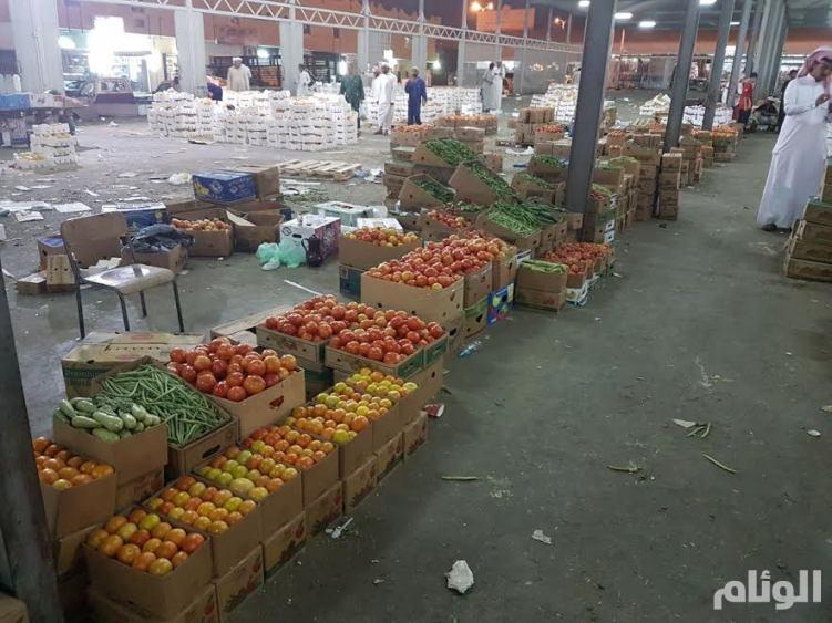 مصادرة كميات من الخضروات والفواكة بالطائف