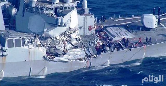 العثور على جثامين البحارة الأمريكيين المفقودين في حادث تصادم قبالة اليابان