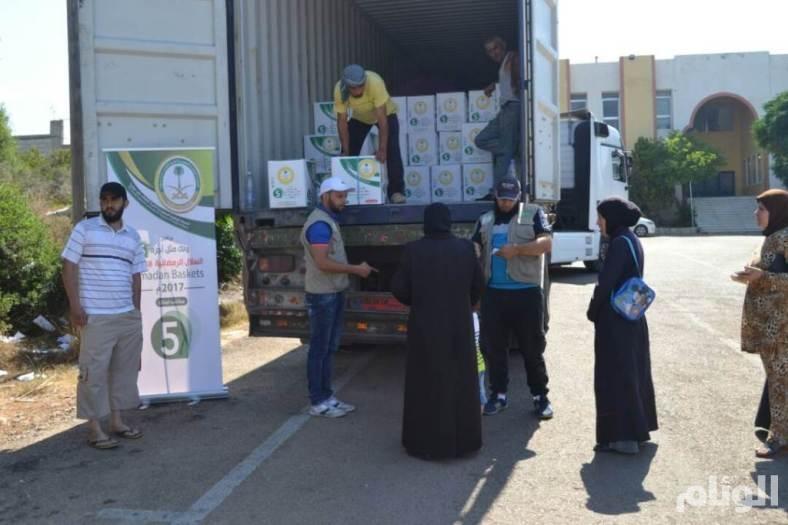 الحملة السعودية توزع السلال الرمضانية على اللاجئين السوريين في لبنان