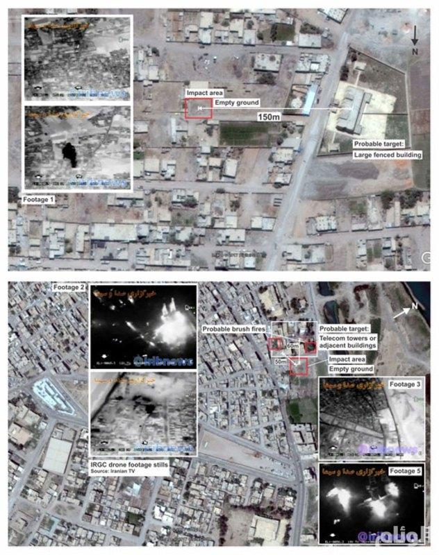 معهد واشنطن: صواريخ إيران لم تصب أي هدف وبعضها لم يصل إلى سوريا