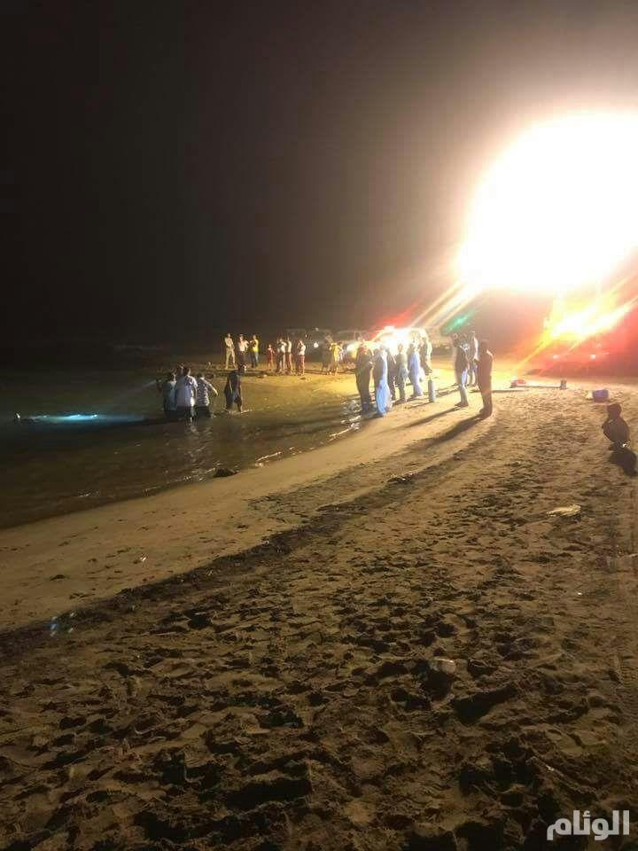 مصرع 4 غرقا وإنقاذ 3 آخرين في كورنيش جازان