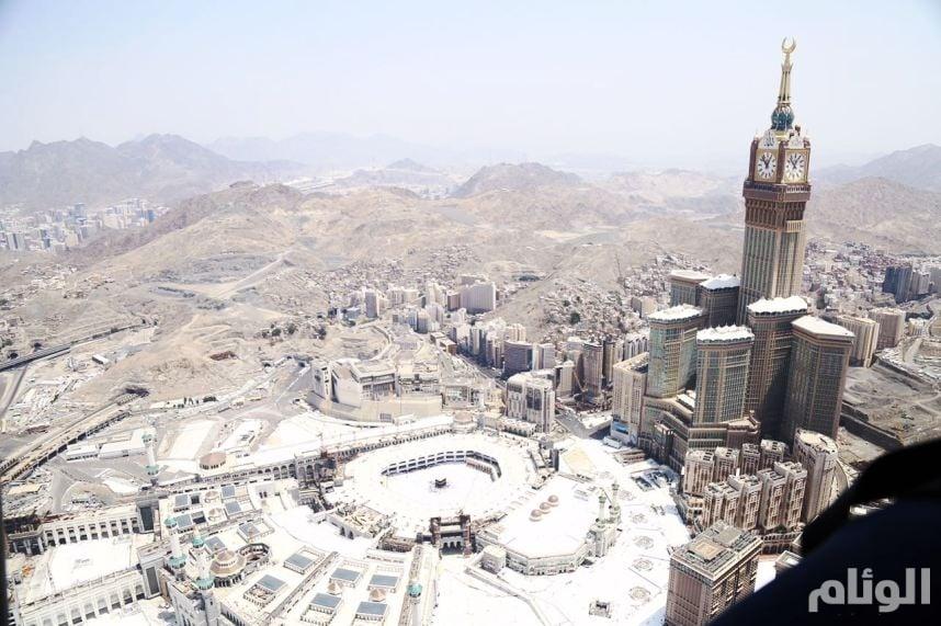 شاهد: فريق «الوئام» يلتقط صوراً جوية للمشاعر المقدسة وجبل عرفات