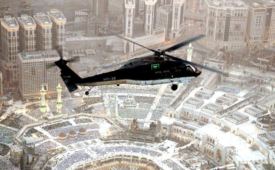 بالصور: طيران الأمن يبدأ مهامه لموسم الحج بجولات استطلاعية مكثفة