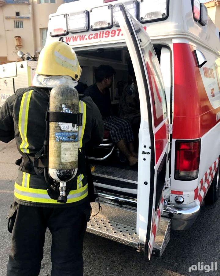 بالصور.. وفاة طفل وشقيقته في حريق شقة سكنية بالقطيف