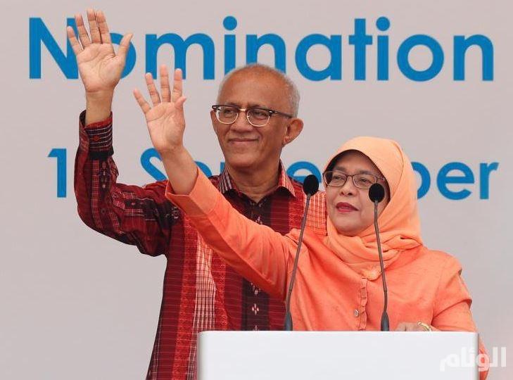 انتخاب أول امرأة رئيسا للبلاد بسنغافورة