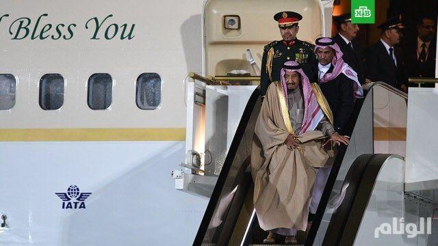 الملك سلمان يصل إلى موسكو