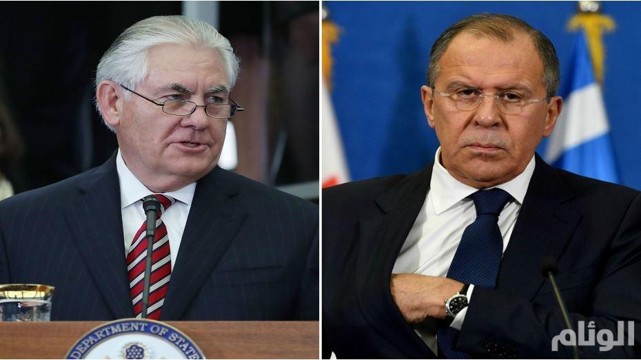 لافروف يبحث مع تيلرسون تطورات الأزمتين السورية والكورية