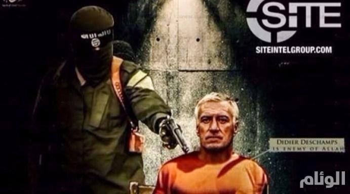 بالملابس البرتقالية والمسدس.. داعش يهدد بتصفية مدرب فرنسا