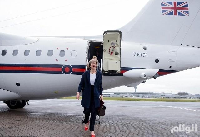 رئيسة الوزراء البريطانية تيريزا ماي تصل إلى بغداد في زيارة مفاجئة