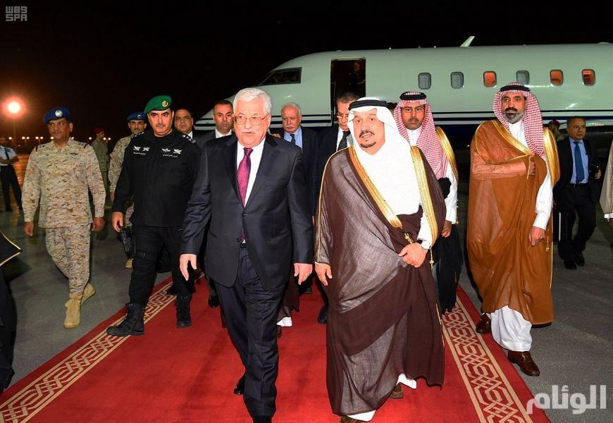 رئيس دولة فلسطين يصل الرياض