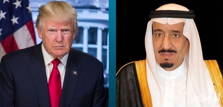 خادم الحرمين الشريفين يتلقى اتصالاً هاتفيًا من الرئيس الأمريكي