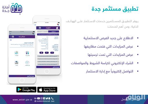 أمانة جدة تطلق أول تطبيق استثماري في المملكة يعمل على الهواتف الذكية