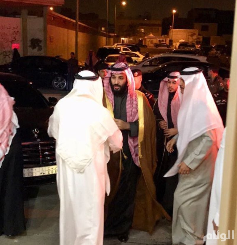 ولي العهد يعزي في وفاة رجل الأعمال ناصر المقيرن
