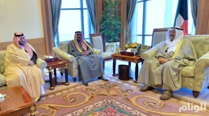 رسالة شفوية من الملك سلمان لأمير الكويت نقلها تركي بن محمد