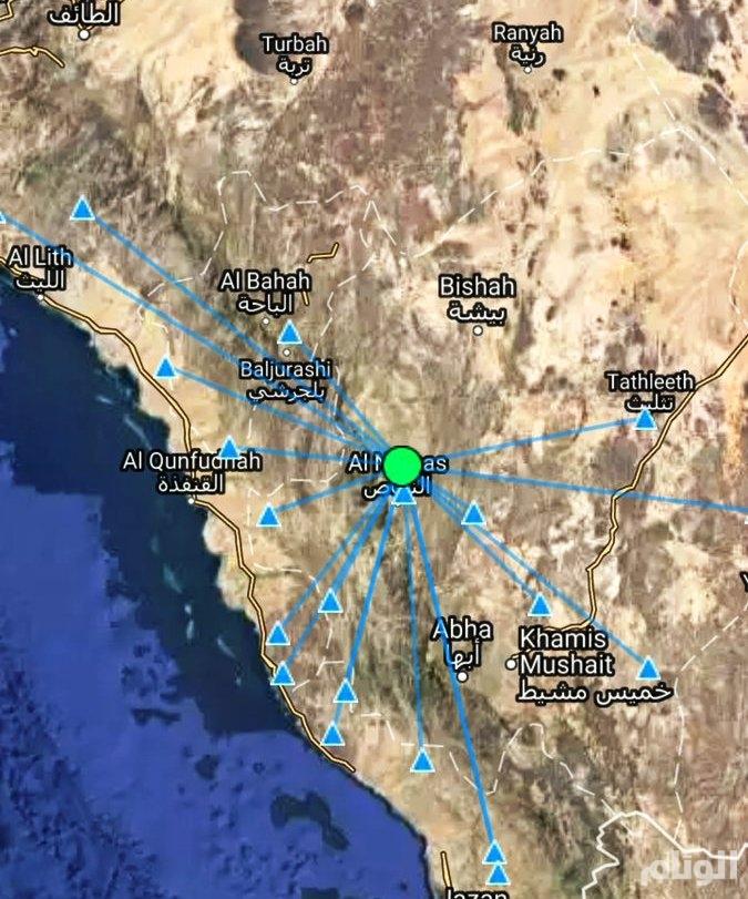 المساحة الجيولوجية تطمئن المواطنين: الهزة الأرضية في النماص ضعيفة جداًَ