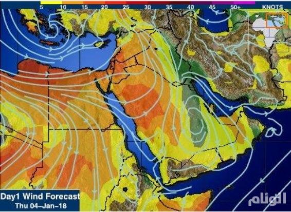المسند: جبهة باردة تدخل اليوم أجواء السعودية
