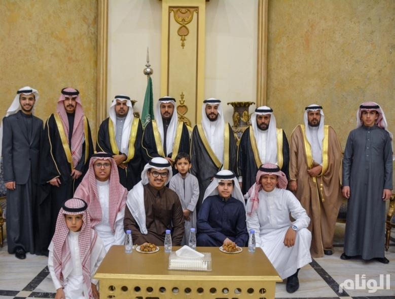 بالصور: العميد «القرني» يحتفل بزواج ابنه «سعد»