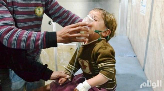 النظام السوري يقصف الغوطة الشرقية بغاز الكلور السام