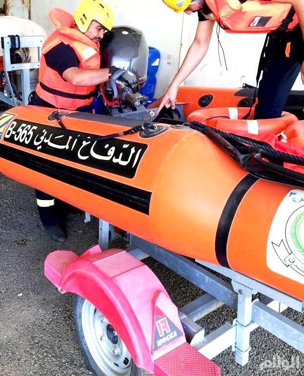 الدفاع المدني في الباحة يحذر المواطنين من أمطار رعدية