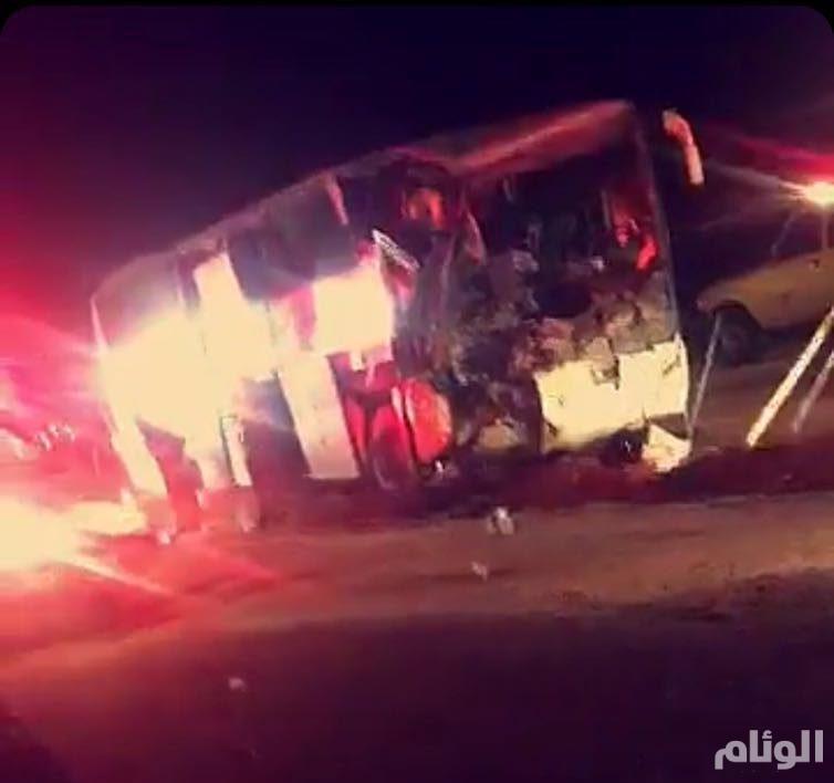 إصابة «21» شخصاً بحادث تصادم عنيف على طريق الرياض – الطائف