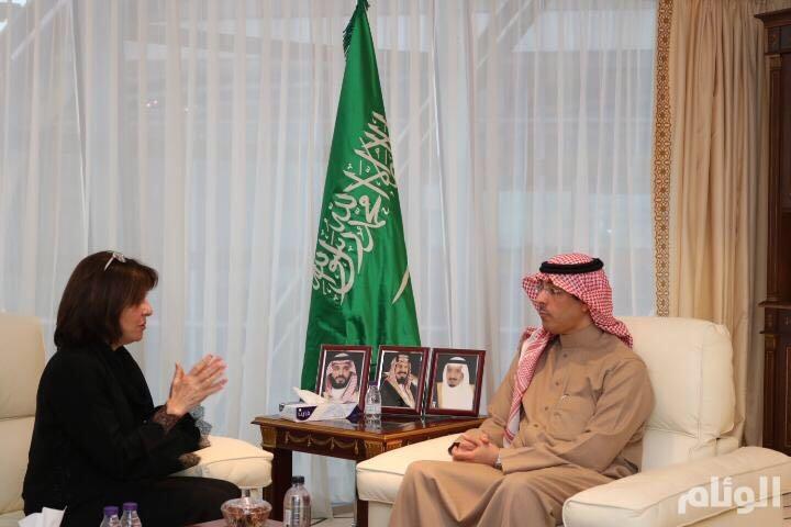 وزير الثقافة يستقبل رئيسة مجموعة الصداقة البرلمانية الفرنسية مع دول الخليج
