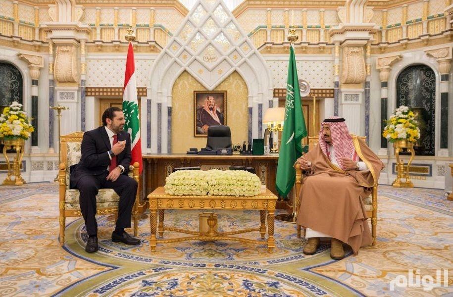الملك سلمان يبحث تطورات الأوضاع اللبنانية مع سعد الحريري