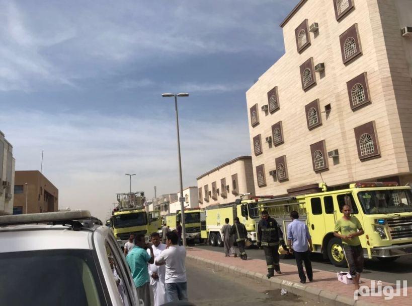 «10» حالات اختناق في حريق شقة سكنية بجدة