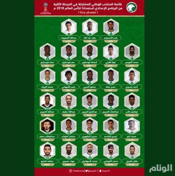 إعلان تشكيلة المنتخب السعودي لمعسكر جدة