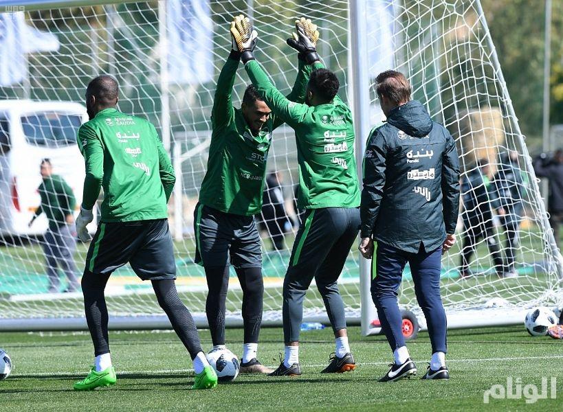 بالصور .. الأخضر يستأنف تدريباته في إسبانيا استعدادا للقاء بلجيكا