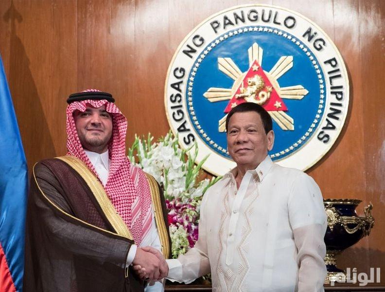 بالصور: الرئيس الفلبيني يستقبل سمو وزير الداخلية