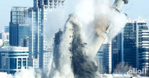 شاهد: تفجير عنيف لمبنى تلفزيون روسي