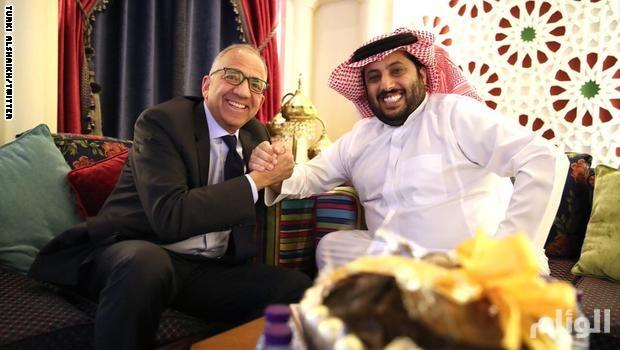 آل الشيخ يستقبل رئيس الاتحاد الأمريكي لكرة القدم