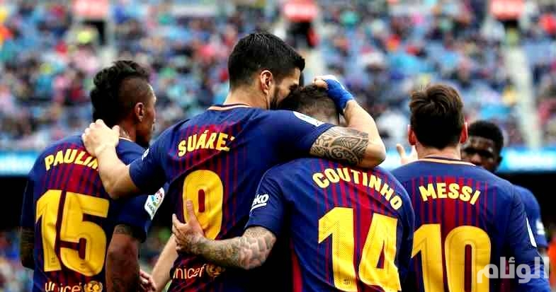 برشلونة بخماسية يحقق كأس ملك اسبانيا