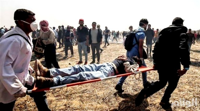 استشهاد فلسطيني في الجمعة الرابعة من مسيرة العودة